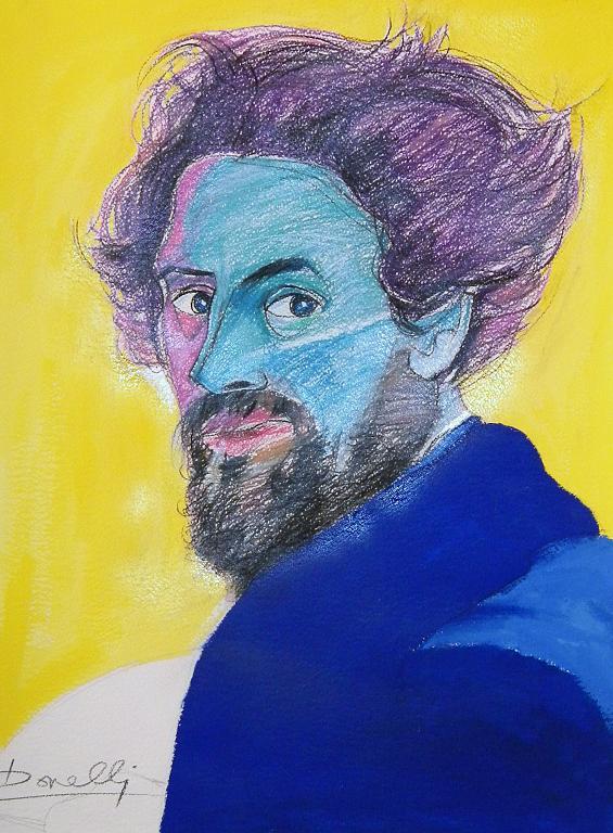 Ritratto di Giovanni Carnovali detto il Piccio - Gabriele Donelli - Pastelli e acrilico - 700 €
