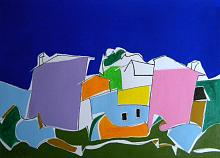 Case in collina - Gabriele Donelli - Acrilico - 400€