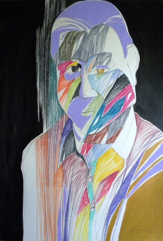 Ritratto di Francis Bacon - Gabriele Donelli - Pastelli e acrilico - 300 €