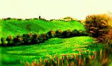Campagna chietina (vortice vangoghiano2) - Michele De Flaviis - Digital Art