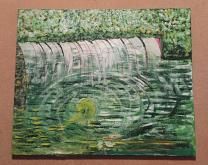 Casa del Niagara - Carlo Bertani - Betrix - Acrilico