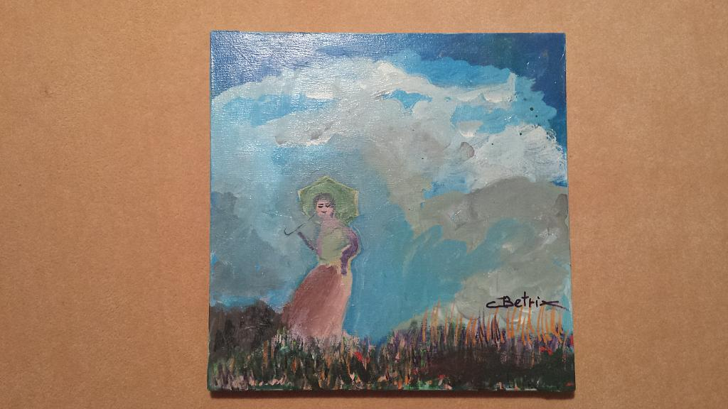 La dama a passeggio - Carlo Bertani - Betrix - Acrilico