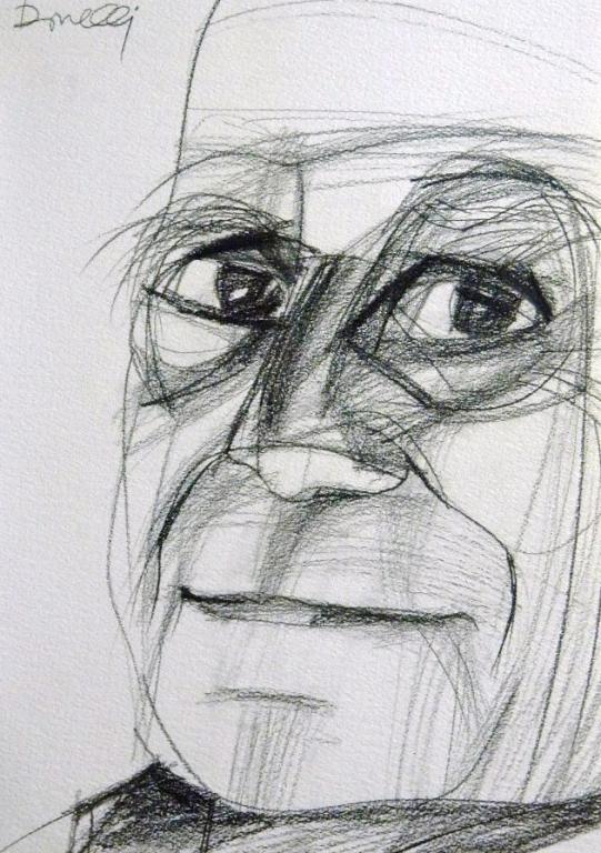 Ritratto di Alberto Moravia - Gabriele Donelli - Matita - 300 €