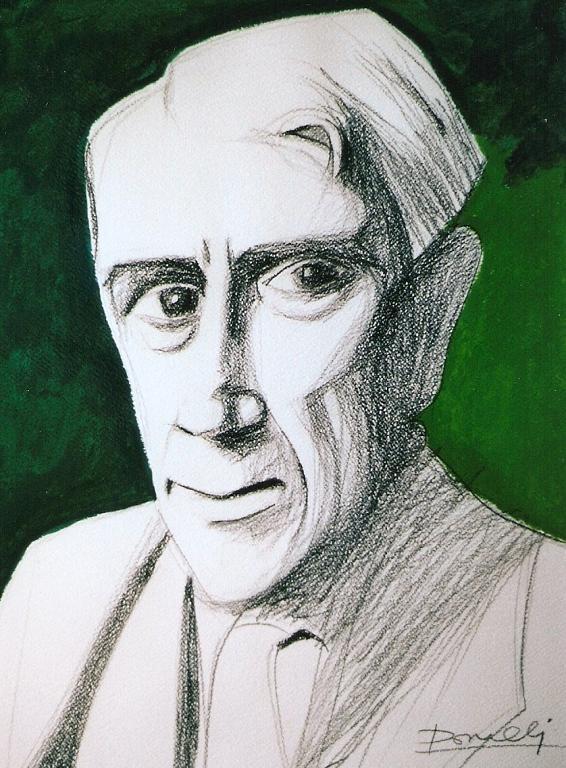 Ritratto di Georges Braque - Gabriele Donelli - Matita e acrilico - 300 €