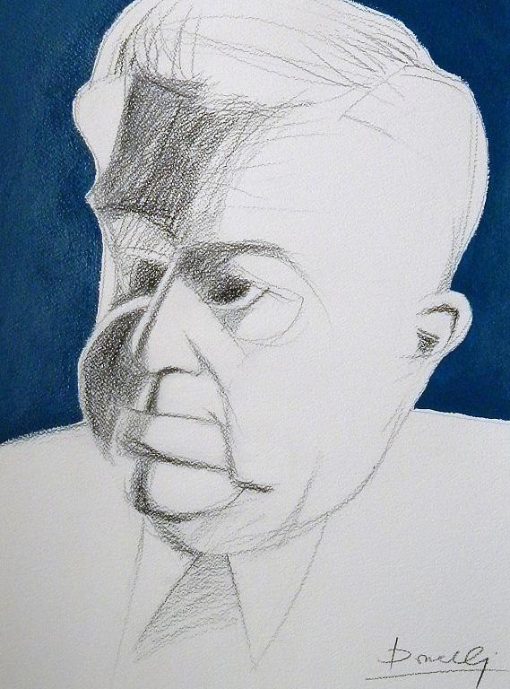Ritratto di Eugenio Montale - Gabriele Donelli - Matita e acrilico - 300 €