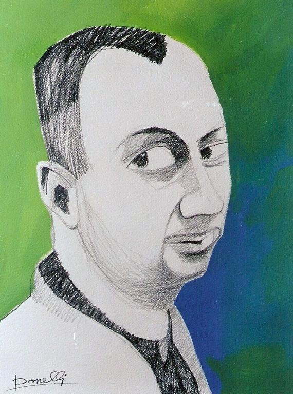 Ritratto di Jorg Jmmendorff - Gabriele Donelli - Matita e acrilico - 1100 €