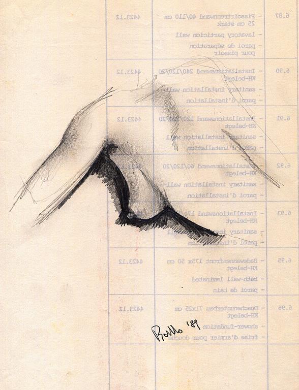 nudo - daniele rallo - matita - 50 €