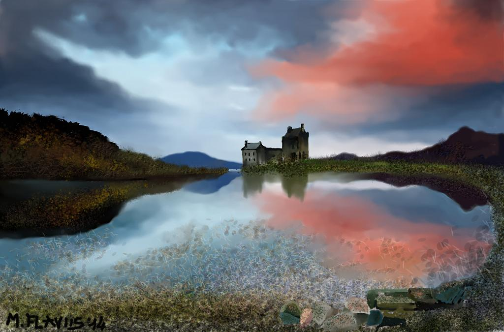 Castello scozzese - Michele De Flaviis - Digital Art