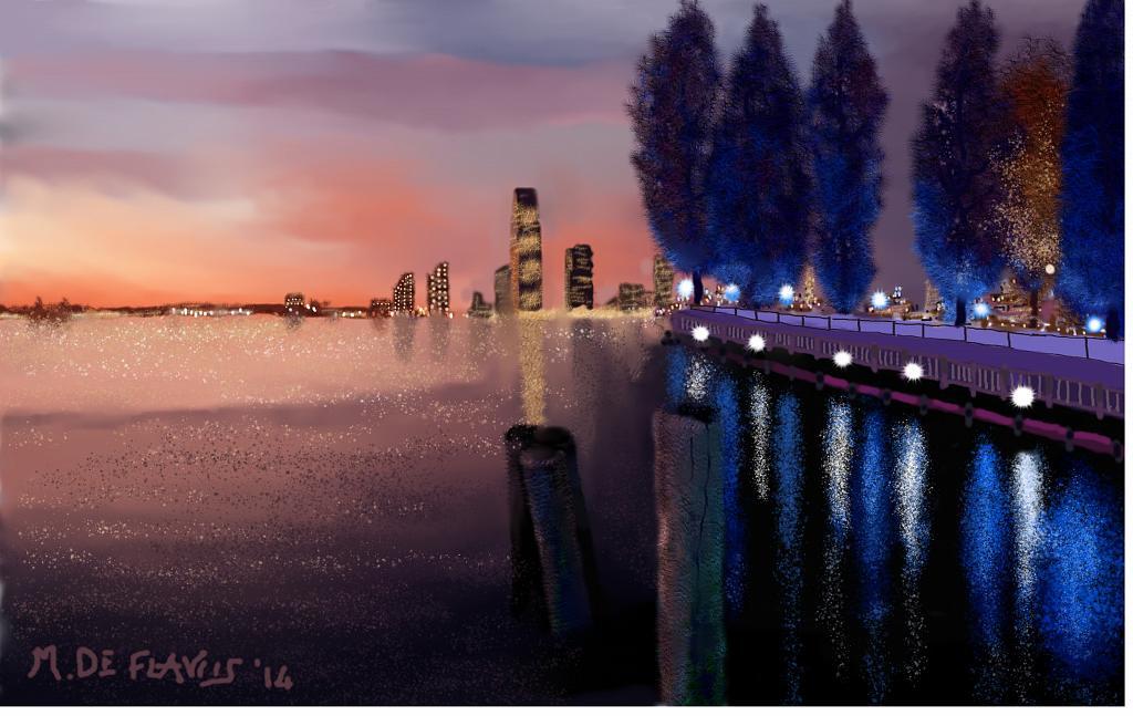 Hudson-river-Manhattan - Michele De Flaviis - Digital Art