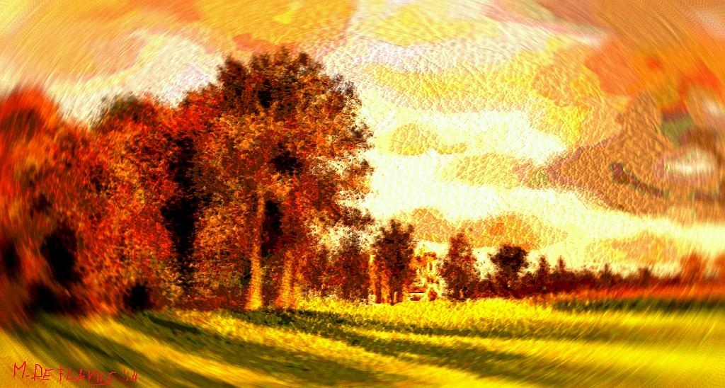 Castello irlandese (vortice vangoghiano) - Michele De Flaviis - Digital Art - 80 €