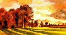 Castello irlandese (vortice vangoghiano) - Michele De Flaviis - Digital Art - 80€