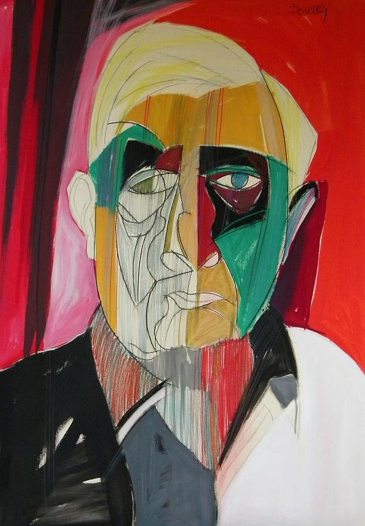 Ritratto di Giorgio de Chirico - Gabriele Donelli - Pastelli e acrilico - 800 €