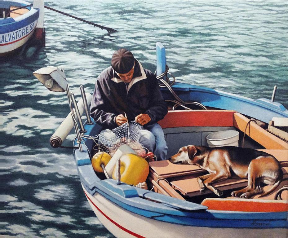 Pescatore - Salvatore Ruggeri - Olio -  €