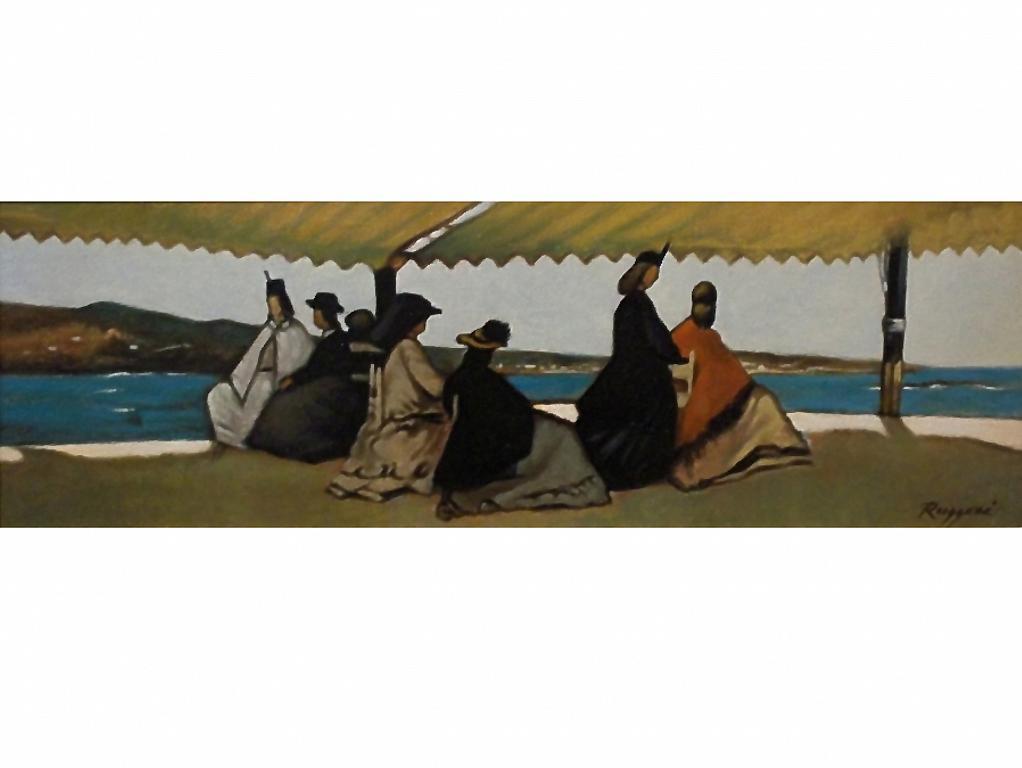 Copia d'autore da Giovanni Fattori: La rotonda dei Bagni Palmieri - Salvatore Ruggeri - Olio