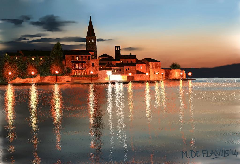 Tramonto a Parenzo - Michele De Flaviis - Digital Art - 200 €