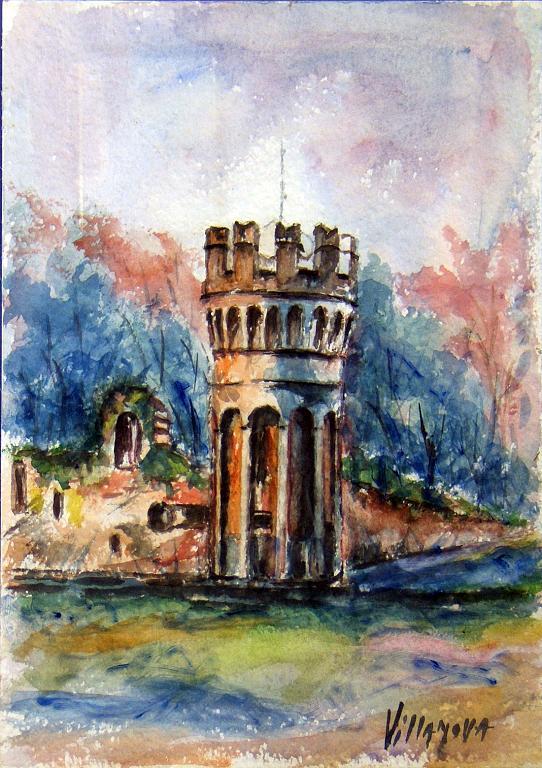 Parco Giavazzi - Aurelio Villanova - Acrilico - 170 €