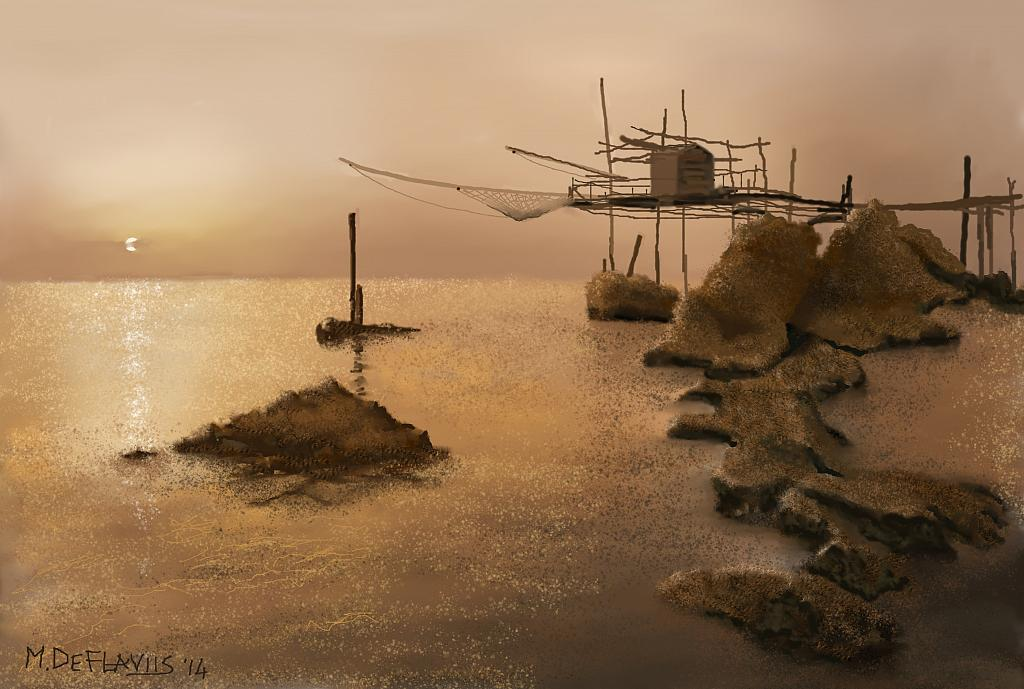 Trabocco - Michele De Flaviis - Digital Art