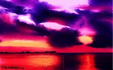 Mare e cielo infuocati - Michele De Flaviis - Digital Art