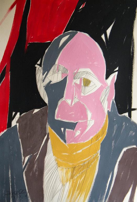 Ritratto di Jean Dubuffet - Gabriele Donelli - Acrilico - 400 €