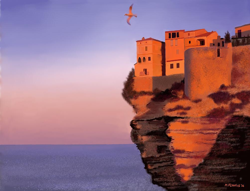 Paese sulla roccia - Michele De Flaviis - Digital Art