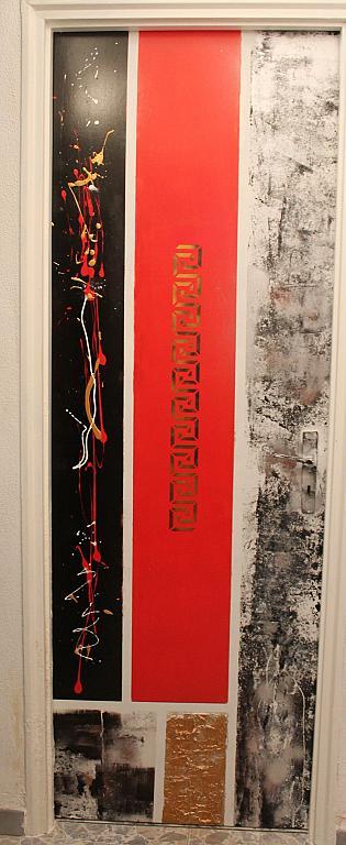Porta decorata con greca - tiziana marra - tecnica mista - 1200,00 €