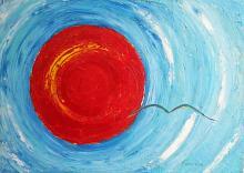Pensiero dominante - Girolamo Peralta - Olio e gel trasperente