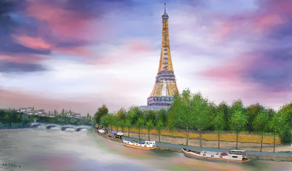Parigi - Michele De Flaviis - Digital Art
