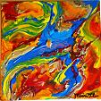 Frammenti di colore 3 - Marisa Milan - Olio
