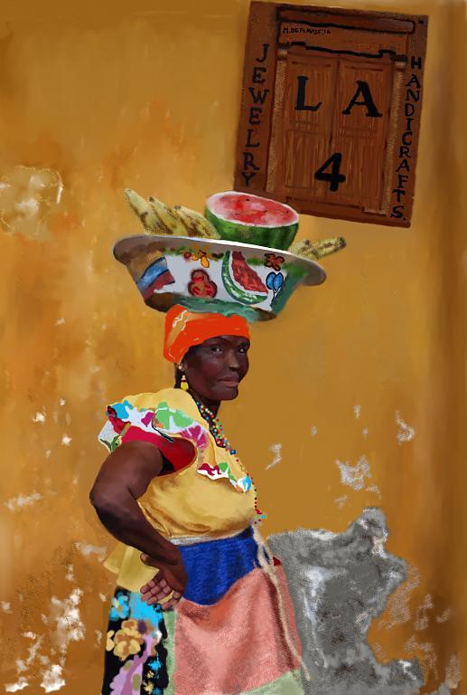 Venditrice di frutta - Michele De Flaviis - Digital Art