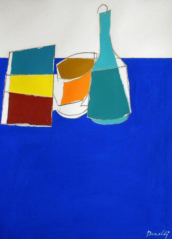 Bottiglia e altri oggetti. Numero due - Gabriele Donelli - Acrilico - 300 €