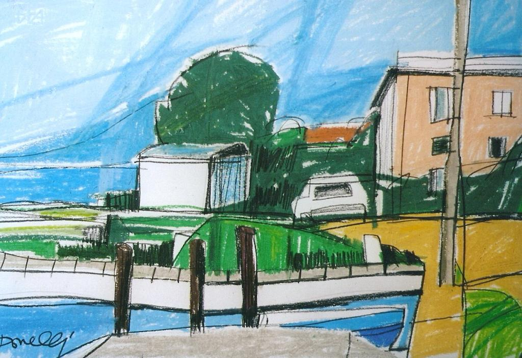 Veduta sul lago d'Iseo - Gabriele Donelli - Pastelli - 300 €