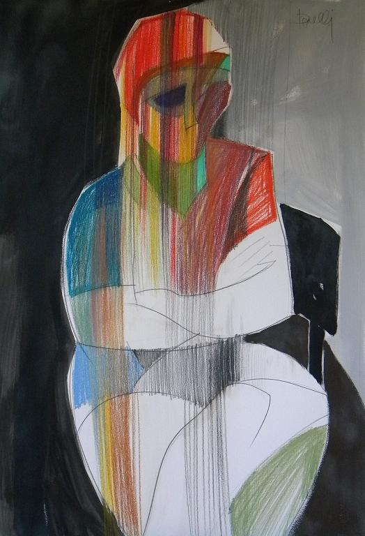 Solitudine - Gabriele Donelli - Pastelli e acrilico - 400 €