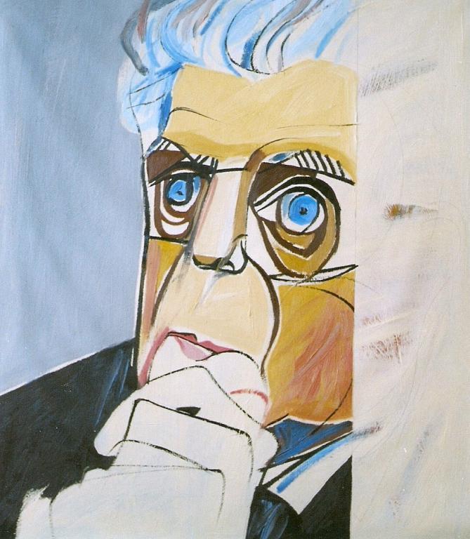Ritratto di Eugenio Montale - Gabriele Donelli - Olio - 400 €
