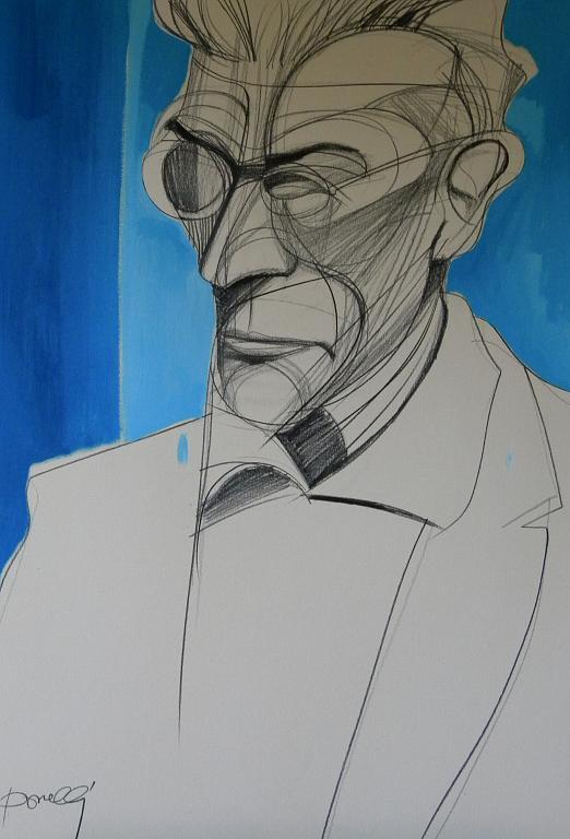 Ritratto di Samuel Beckett - Gabriele Donelli - Matita e acrilico - 800 €