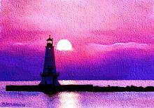 Faro al tramonto - Michele De Flaviis - Digital Art