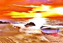 Barca rossa e bianca2 - Michele De Flaviis - Digital Art - 90€