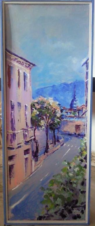 Una via torinese - Silvia Tschauschev - Acrilico - 100 €