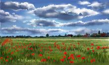 Campo di papaveri - Michele De Flaviis - Digital Art