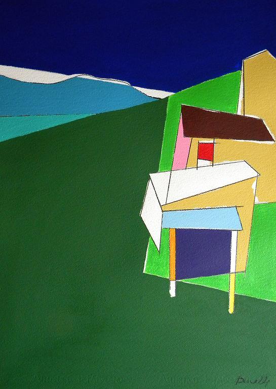 Case in collina. Numero tre - Gabriele Donelli - Acrilico - 400 €