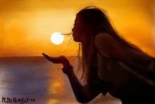 Ragazza che gioca col sole - Michele De Flaviis - Digital Art