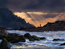 Il fiume e il pescatore - Michele De Flaviis - Digital Art