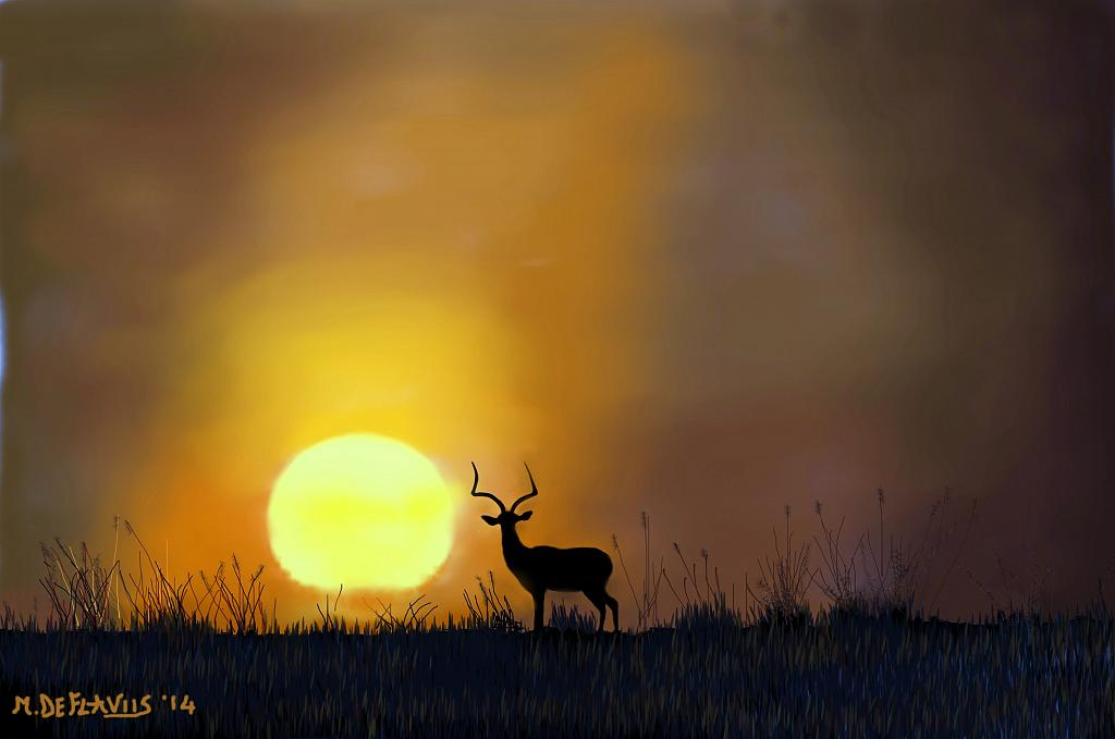 Antilope della Savana - Michele De Flaviis - Digital Art