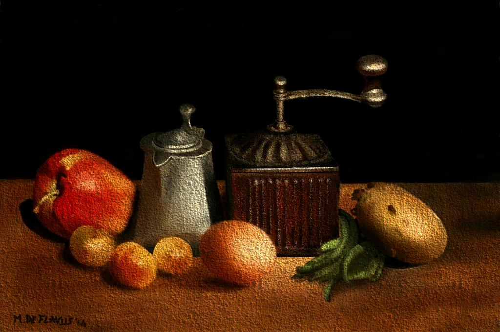 Natura morta con macinino2 - Michele De Flaviis - Digital Art