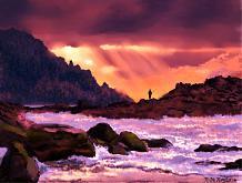 Il fiume e il pescatore2 - Michele De Flaviis - Digital Art