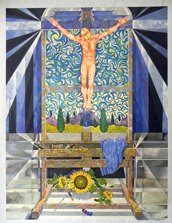 Il cavalletto di Van Gogh - Costantino Canonico - Olio