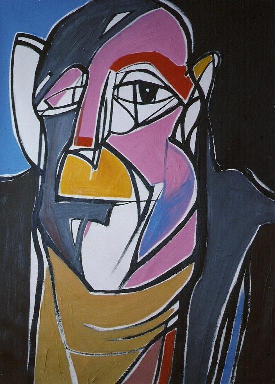 Ritratto di Jean Dubuffet - Gabriele Donelli - Olio - 400 €