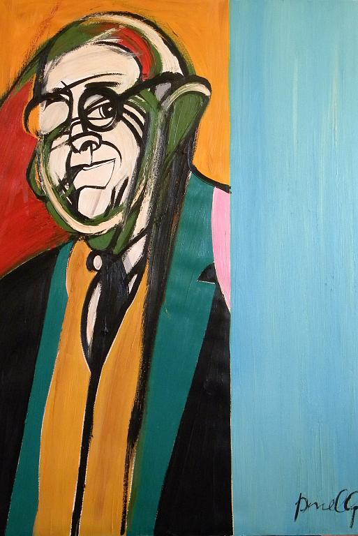 Ritratto di Giorgio Morandi - Gabriele Donelli - Olio - 600 €