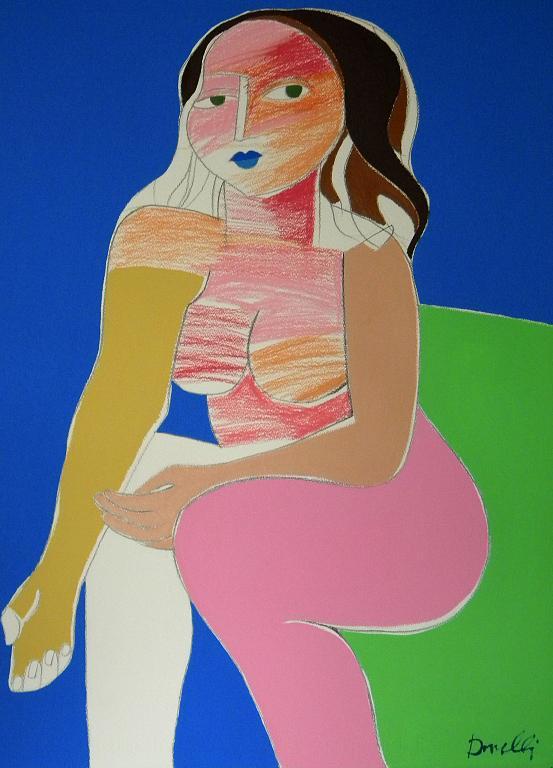 Donna seduta - Gabriele Donelli - Pastello e acrilico - 300 €