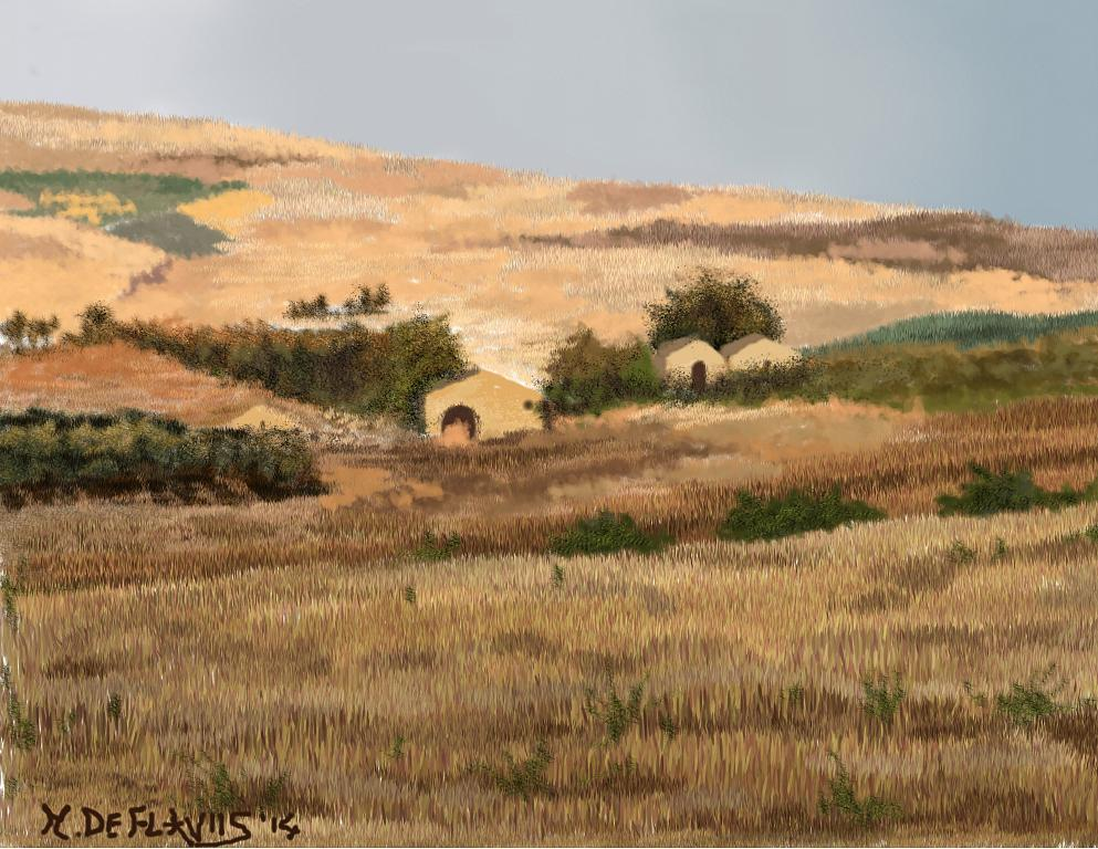 Campagna siciliana - Michele De Flaviis - Digital Art
