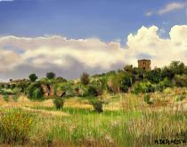 La torre sulla collina - Michele De Flaviis - Digital Art